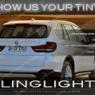 BMW X5 F15 Tinted Tail Lamp Light Overlays Kit Smoked Film Protection