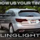 Acura MDX Custom Tail Lamp Light Tint Overlay Kit Smoked Protection Film