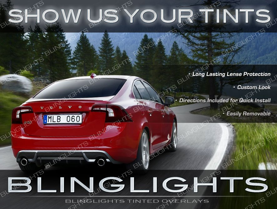 Volvo S60 Tint Film Overlays Tail Lamp Light Smoked Protection Kit