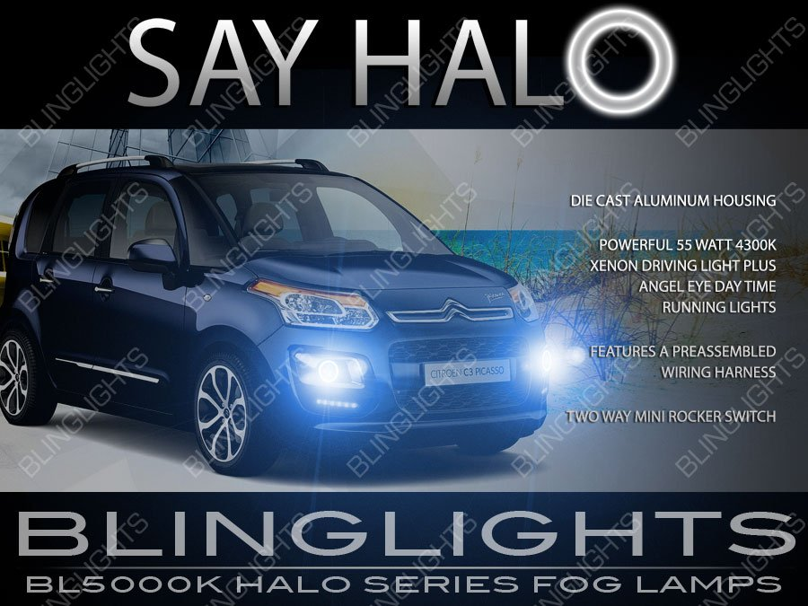 Citroen C3 Picasso Halo Fog Lamp Driving Light Kit Citroën Angel Eyes