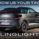Citroen DS3 Tinted Overlays for Taillamps Smoked Taillights Vinyl Film Citroën Protection