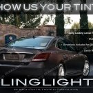 Hyunai Equus Smoked Tail Light Overlays Kit Lamps Tinted Protection Film