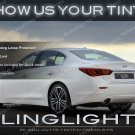 Infiniti Q50 Murdered Out Tail Lamp Protective Overylays Tinted Lights Kit Smoked Film