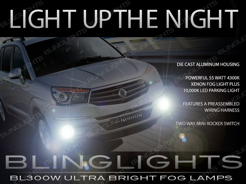 SsangYong Rodius Xenon Driving Lights Fog Lamps Kit Pair Setup