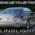 Maserati Ghibli Smoked Taillight Overlays Murdered Out Taillamp Protective Lense Film Tinted