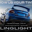 Subaru Impreza Tinted Smoked Tail Lamps Lights Overlays Film Protection