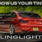 BMW M6 Smoked Tail Light Overlays Kit Tinted Lamp Lense Protective Covers E63 E64 F06 F12 F13 Tint
