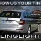 Skoda Octavia Tinted Tail Lights Smoked Lamps Overlays Kit Škoda Lense Film Protection