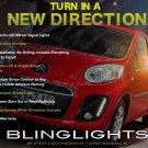 Peugeot 107 LED Side Mirror Turn Signal Lights Signaler Lamps Pair Set