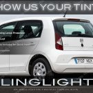 SEAT Mii Tinted Smoked Taillamps Taillights Overlays Kit Protetive Lense Film