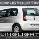 Skoda Citigo Tinted Smoked Taillamps Taillights Tail Lamps Lights Protection Overlays Film Škoda