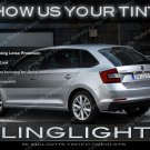 Skoda Rapid Smoke Tail light lamp Overlay Film Kit Tinted Lense Protection Škoda Murdered out