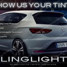SEAT Leon Tinted Smoked Taillamps Taillights León Protection Overlays Kit