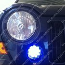 2005 2006 2007 Jeep Liberty KJ LED Grille Corner Driving Lights Parking Lamps Blue Fog Kit