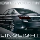 Honda Accord Tinted Smoked Tail Lamps Lights Coupe Sedan Overlays Film Protection