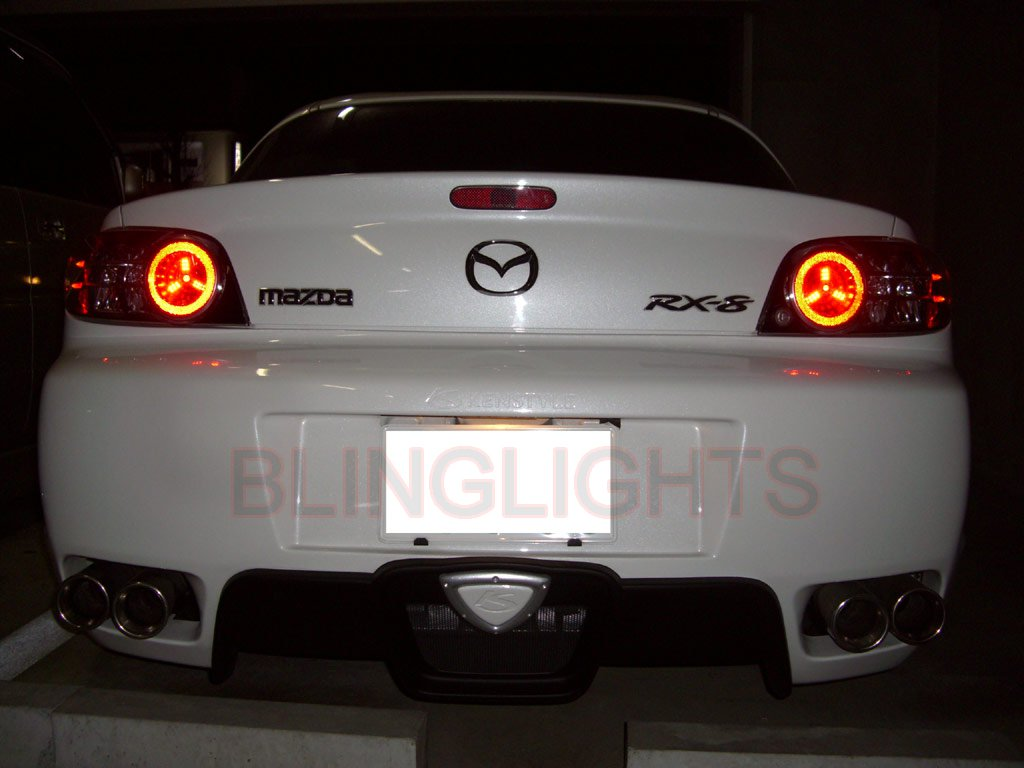 Mazda RX-8 Tail Lamp Custom White LED Spider Light Bulbs Replacement Upgrade