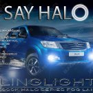 2014 2015 2016 Toyota Hilux Invincible Halo Fog Lamp Driving Light Kit Angel Eye