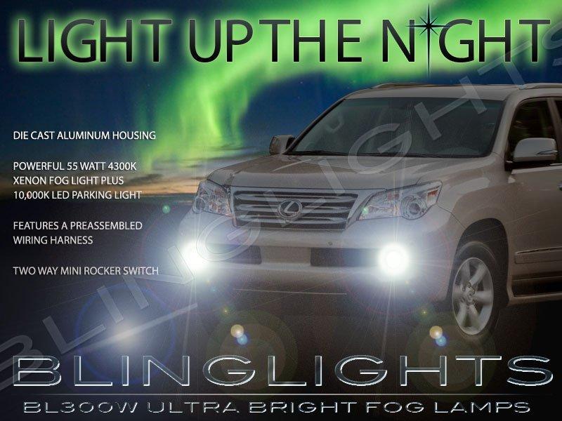 2008-2014 Lexus LX 570 Xenon Fog Lamps Driving Lights Kit LX570