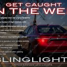 Toyota Camry Custom White LED Taillamp Bulbs Replacement Lights Spider Lite Set