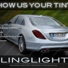 Mercedes S-Class Tinted Taillamp Overlays Kit W222 Smoked Taillight Film Covers