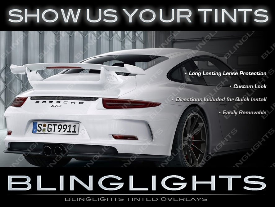 Porsche 911 Smoked Tail Light Overlays Kit Tinted Lamp Film Protective Lense Covers