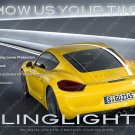 Porsche Cayman Murdered Out TailLight Overlays Kit Tinted TailLamp Film Lense Protection Covers
