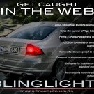 Volvo S80 Tail lamp Custom Replacement White LED Light Bulbs