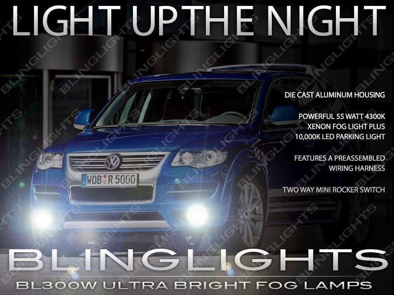 2011 2012 2013 2014 VW Touareg Fog Lamps Driving Lights Volkswagen