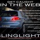 VW Golf Custom LED Tail Lamp Upgrade Replacement Light Bulbs Set Volkswagen