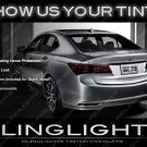 Acura TLX Murdered Out Tail Lamp Lense Overlays Smoked Lights Film Kit