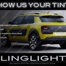 Citroen C4 Cactus Tinted Taillamp Overlays Kit Smoked Citroën Taillight Covers Lense Film