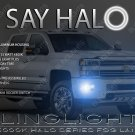 2015 2016 2017 Chevrolet Silverado HD Angel Eye Fog Lamps Driving Lights