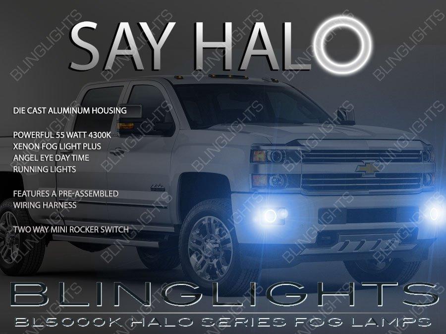 2014 2015 2016 2017 GMC Sierra Angel Eye Halo Fog Lamps Kit