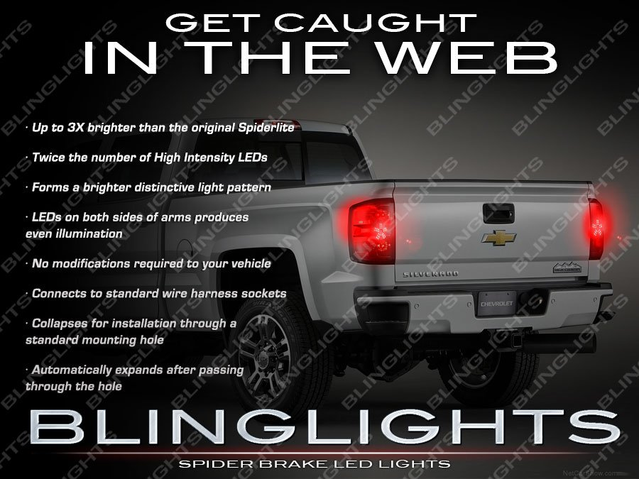 Chevrolet Silverado Custom LED Spider Tail Lamp Light Bulbs Set