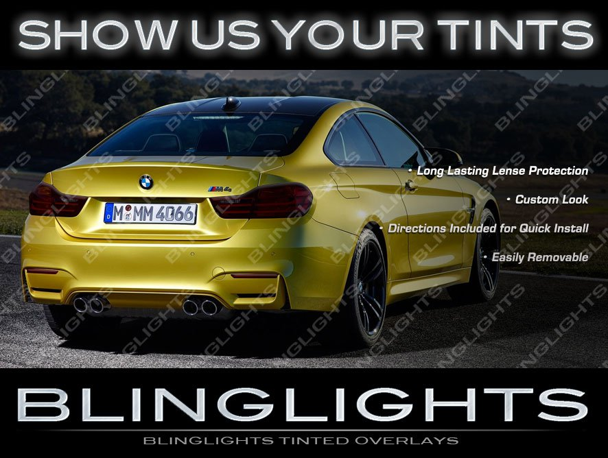 BMW F82 M4 Murdered Out Taillight Overlay Covers Tinted Taillamp Film Kit 2015 2016 2017
