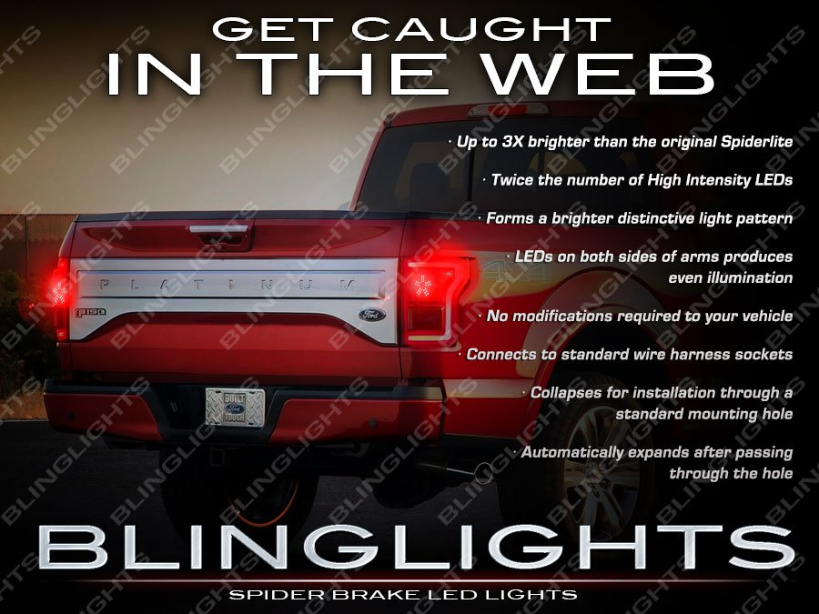 Ford F-150 Tail Lamp White LED Spider Light Bulbs Replacement F150 Custom Upgrade Set