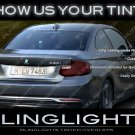 BMW 2 Series Coupe F22 Tinted Taillamp Overlays 220i 228i 228iX M235i M235iX 218d 220d 225d