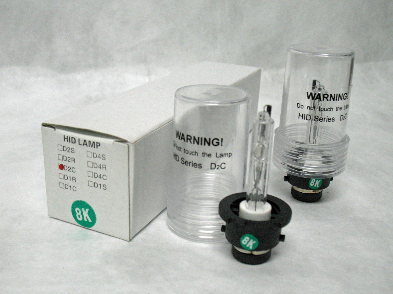 8,000K D2S Xenon HID Head Lamp Replacement Light Bulbs