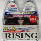9004 Rising Super White 3950K 65/45W Halogen Replacement Headlight Bulb Set of 2 from Japan