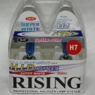 H7 Rising Super White 3950K 55W Replacement Light Bulb Set of 2