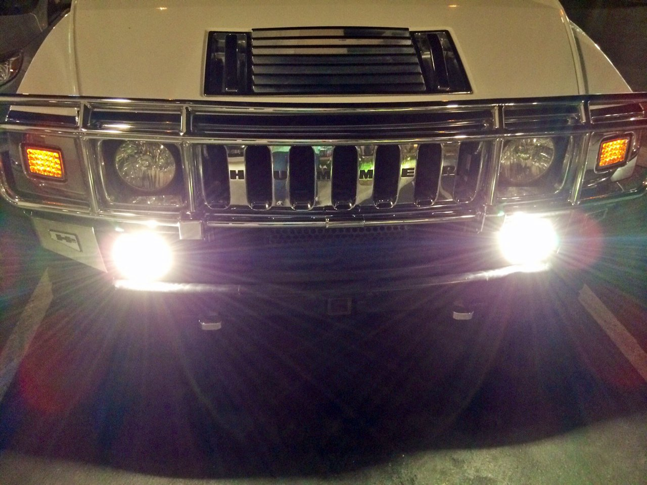 Hummer H3 Bumper Fog Lamps Driving Lights Kit 2006 2007 2008 2009 2010