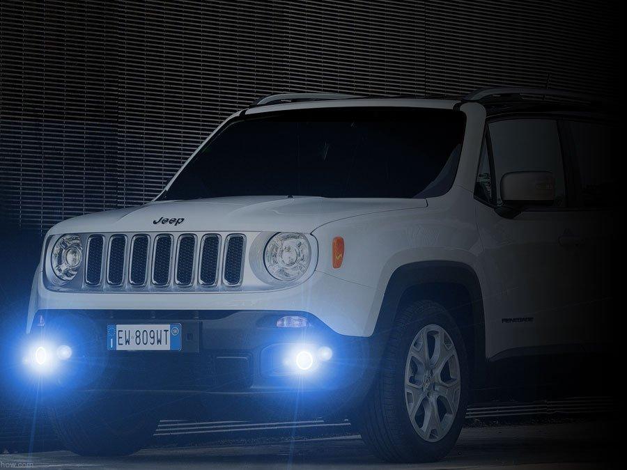 2015 2016 2017 Jeep Renegade Angel Eye Halo Fog Lamps Lights Kit
