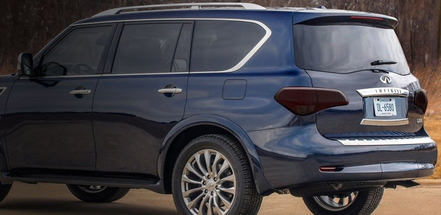 Infiniti QX56 QX80 Murdered Out Tail Light Covers Lamp Tint Overlays