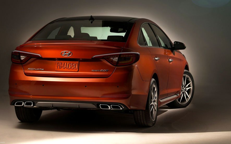 2015 2016 2017 Hyundai Sonata Murdered Out Taillamp Covers Taillights Smoked Taillamps Covers