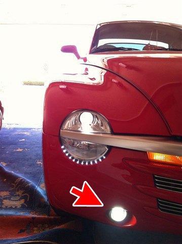 Chevrolet SSR Angel Eye Fog Lights Halo Driving Lamps