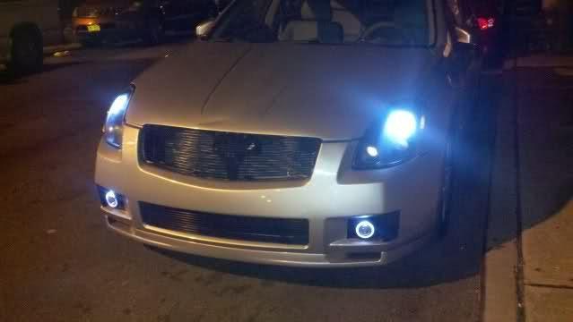 2004-2008 Nissan Maxima Halo Fog Lamps Angel Eye Lights Kit A34