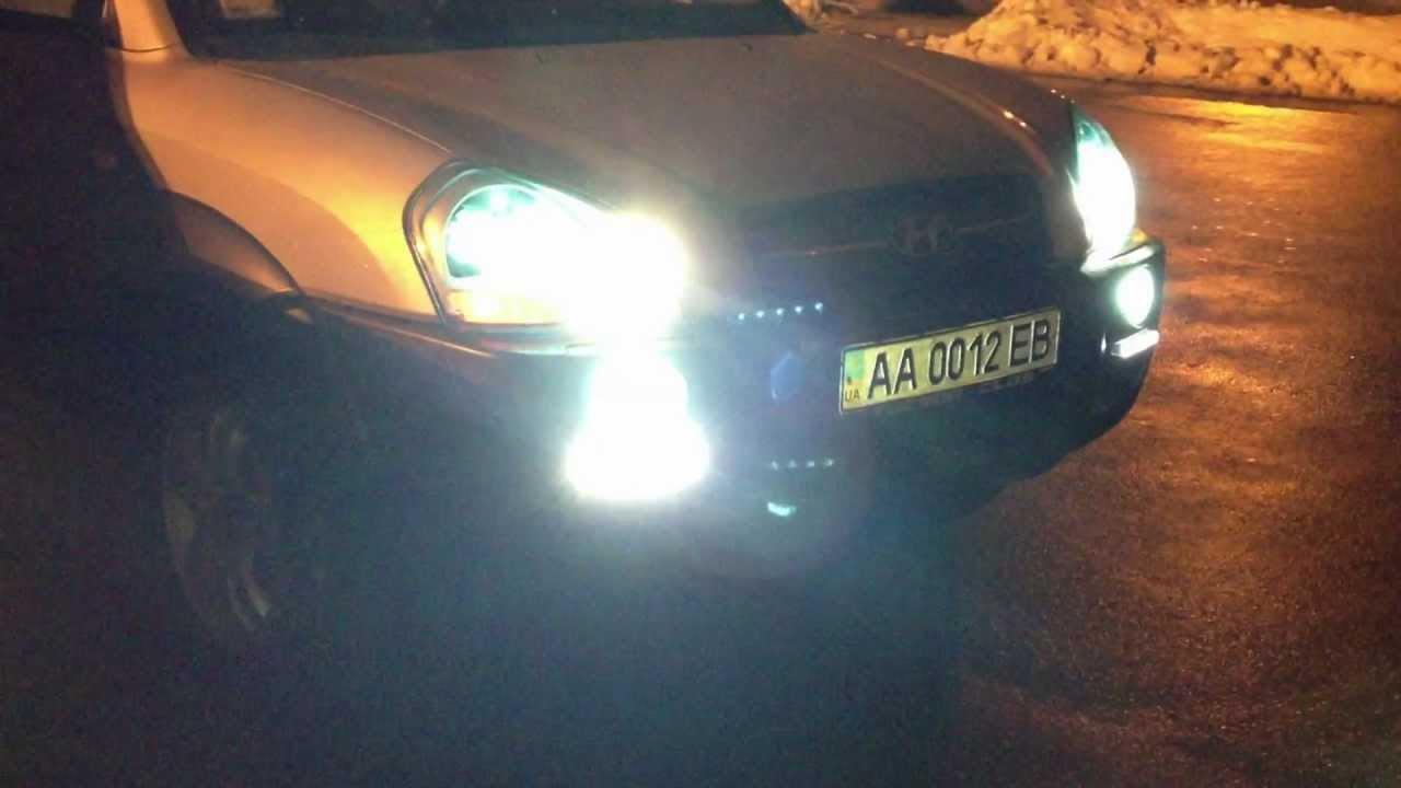2004-2009 Hyundai Tucson Xenon Fog Lamp Driving Light Kit