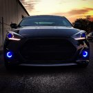Hyundai Veloster Turbo White Halo Fog Lamps Angel Eye Lights