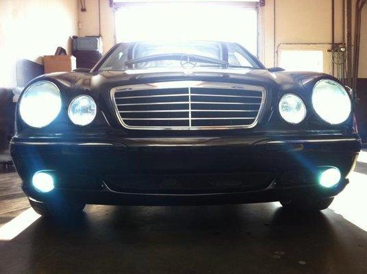 2003 2004 2005 2006 Mercedes E55 AMG Fog Lights Driving Lamps w211