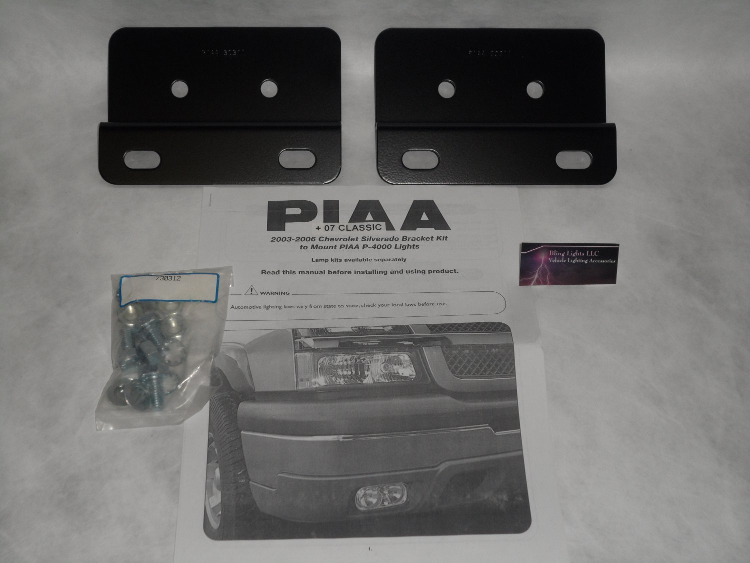 2003-2007 Chevrolet Silverado PIAA 30310 Mounts for P-4000 Lamps